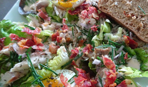 Salade au maquereau fumé