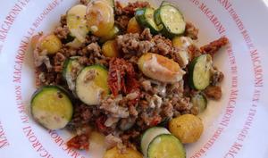 Gnocchi à la viande hachée et sauce gorgonzola
