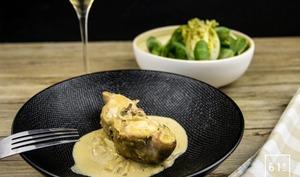 Lapin à la moutarde et au foie gras