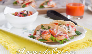 Tacos aux crevettes à la mexicaine