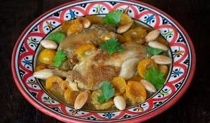 Tajine de poulet aux mirabelles et au safran d'Alsace