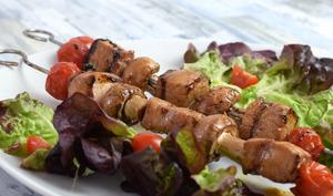 Brochettes de porc au soja au barbecue