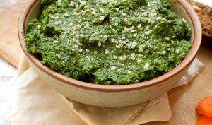 Pesto d'ail des ours et de chou kale