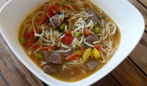 Soupe thaïe au canard