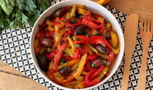 Salade de poivrons, olives et orange