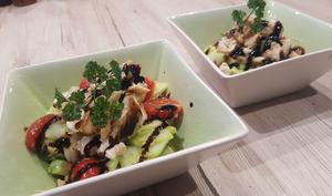 Salade de lieu noir aux notes asiatique