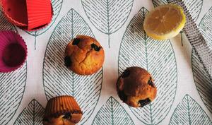 Muffins au citron, à la myrtille et aux graines de chia, avec ou sans levain