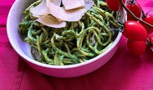 Spaghetti sauce ricotta épinard