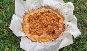 Tarte mirabelles, noisettes et miel