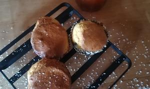 Muffins coconut - cœur coulant abricot