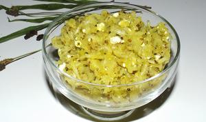 Salade de courgette à la feta et aux graines de plantain
