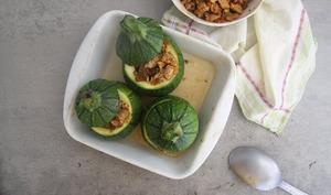 Courgettes farcies végétariennes aux protéines de soja texturées