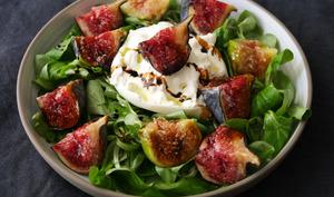 Salade figues burrata