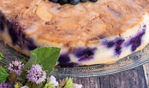 Gâteau invisible végétal pommes myrtilles