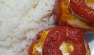 Les tomates farcies chèvre poulet