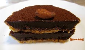 Tartelettes au chocolat et fèves de cacao