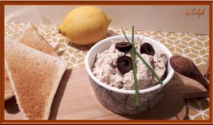 Mousse de thon aux olives noires
