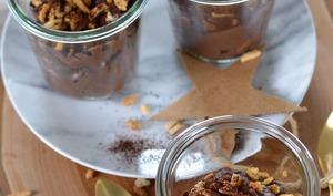 Mousse au mascarpone, cacao et amandes