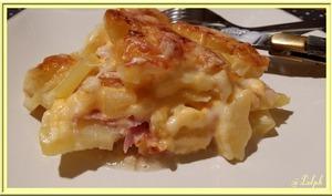 Gratin de Pommes de Terre à la Pancetta et Cheddar