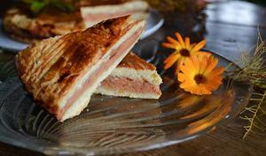 Gâteau breton fourré aux coings confits maison