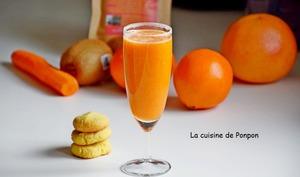 Jus d'orange, carotte, kiwi et acérola