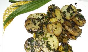 Pommes de terre sautées au plantain lancéolé