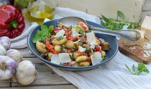 Gnocchis aux poivrons et aux aubergines