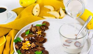 Mini pancakes vegan sans gluten et sans sucres
