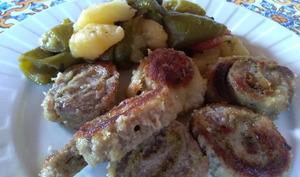 Roulés de viande panés