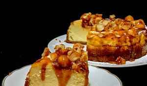 Cheesecake Caramel et Macadamia