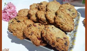 Cookies au muesli et cranberries