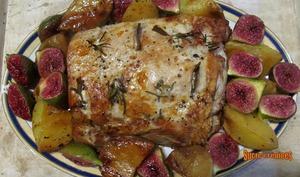 Rôti de porc aux pommes de terre et figues