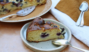 Gâteau coco myrtilles