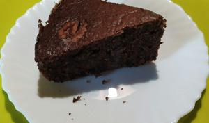 Gâteau aux noix et aux chocolat- La table d'Hyssope