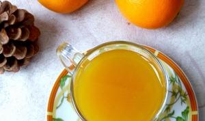Cocktail chaud orange, gingembre, miel et rhum épicé
