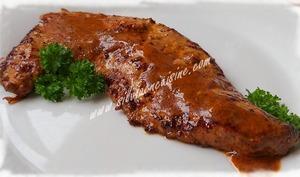 Foie de veau à la sauce basque