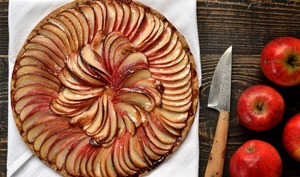 Tarte fine pomme, coing, sarrasin