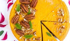 Cheesecake vegan potiron et gingembre