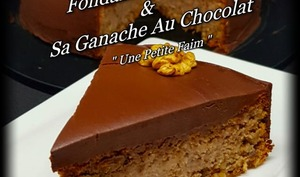 Fondant aux noix et sa ganache au chocolat