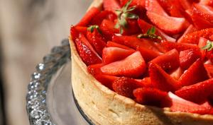 Tarte aux fraises mascarpone chocolat blanc