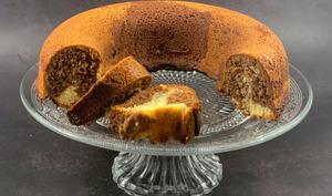 Gâteau marbré à la pâte à tartiner