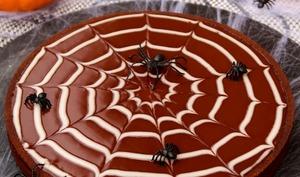 Tarte toile d'araignée au chocolat