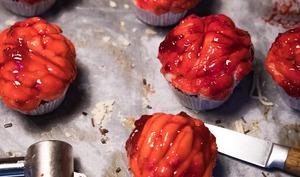 Muffins cervelles d'Halloween