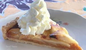 Les tarte aux pommes et à la confiture de bananes