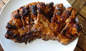 Poitrine d'agneau sauce barbecue à la plancha
