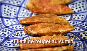 Filets de rouget au cumin