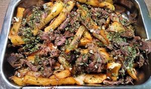 Bœuf miroton aux frites