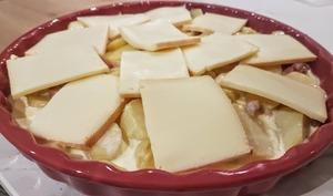 Tartiflette minute avec les restes de fromage à raclette