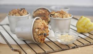 Muffins citron, amande et cerises amarena