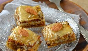Baklava aux amandes et chocolat